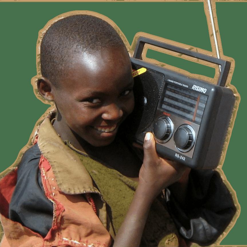 photo enfant et radio